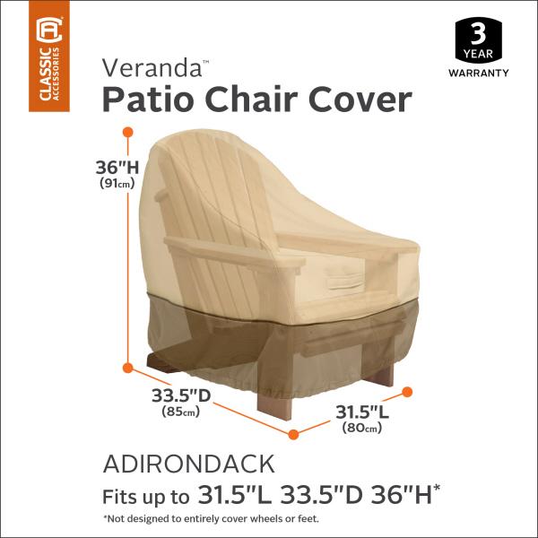 Classic Accessories Ravenna Patio Adirondack Chair Cover